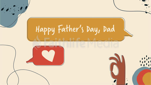 Happy Father's Day Shapes
