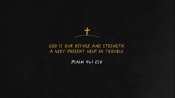 God Is Our Refuge And Strength  PowerPoint image 1