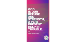God Is Our Refuge And Strength Mountains  PowerPoint image 1
