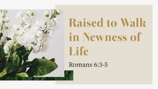 Raised to Walk in Newness of Life