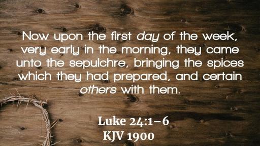 Resurrection Sunday AM Service 04/012/2020 -