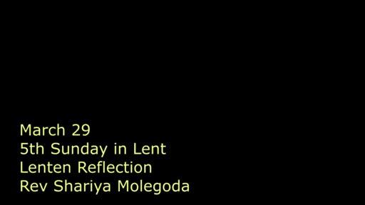 5 Lent Reflection