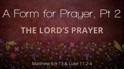 Forms for Prayer