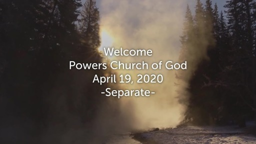 "Sunday Service - ""Separate"" - 4/19/2020"