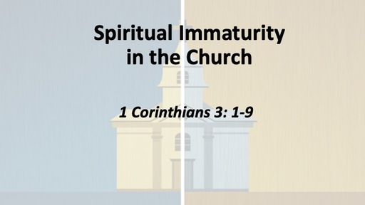 Spiritual Immaturity in the Church