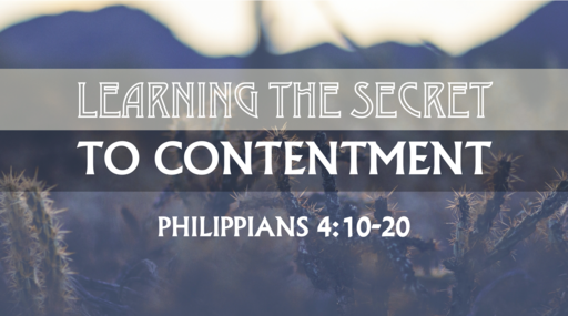 Learning the Secret to Contentment
