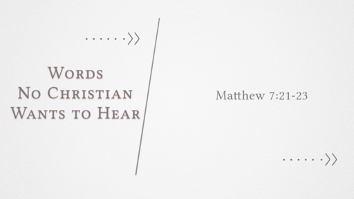 Words No Christian Wants to Hear
