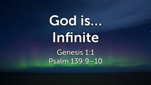 God is Infinite – Jerome Brown