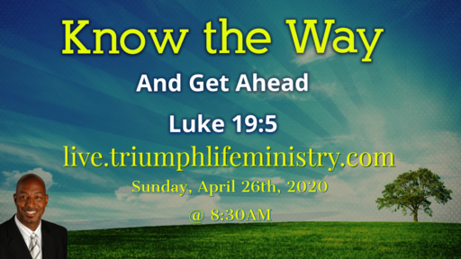 Know the Way (And Get Ahead) Luke 19:4-5