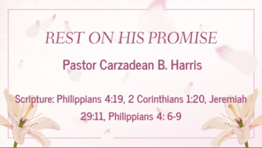 REST ON HIS PROMISE
