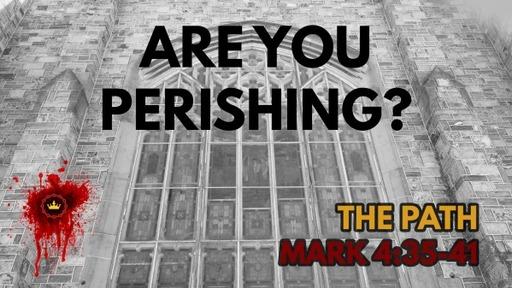 Are You Perishing?: Mark 4:35-41
