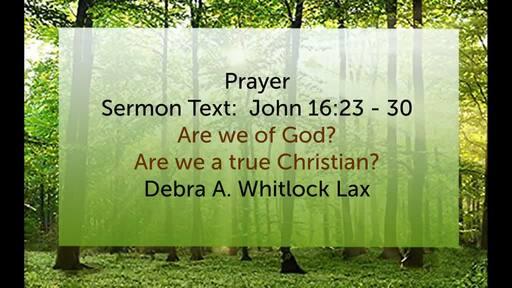20190519 - Debra  Lax - Are We of God
