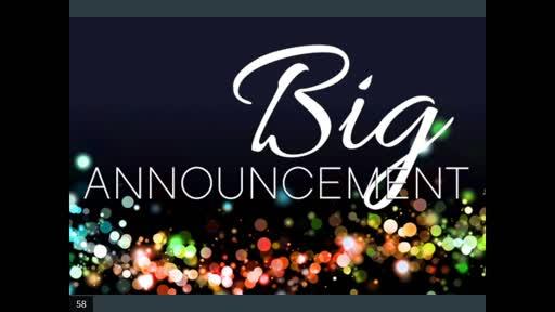 Big Announcement 2020