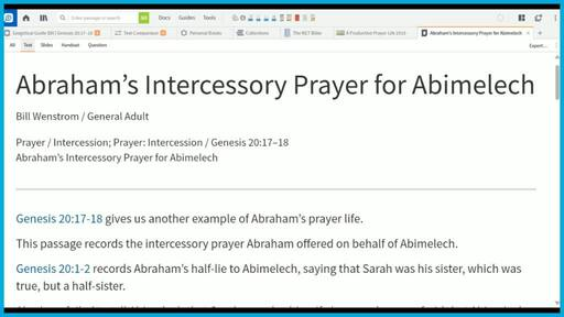 Abraham's Intercessory Prayer for Abimelech