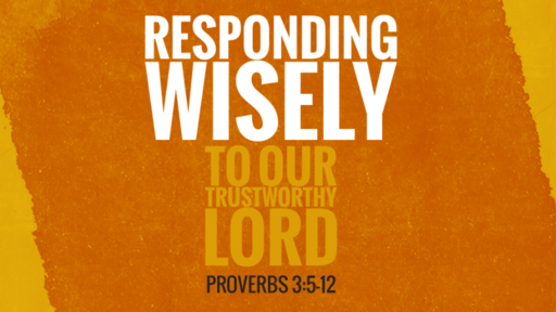 Responding Wisely to our Trustworthy Lord | Proverbs 3:5-12 | Luke Rosenberger