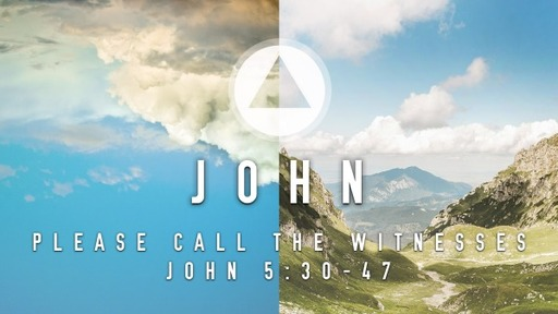 Sunday, May 3 - AM - Please Call the Witnesses - John 5:30-47