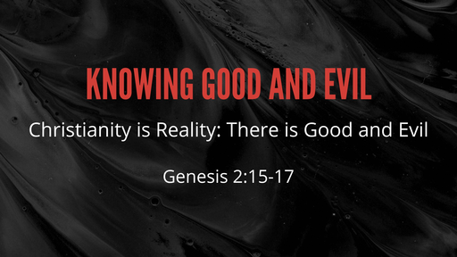 Christianity is Reality: There is Good and Evil