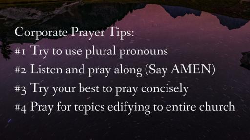 Congregational Prayer Tips & Prayers