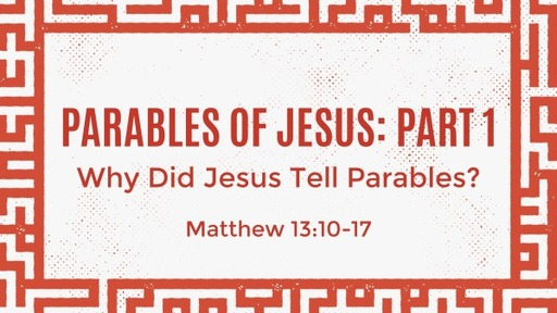 Parables of Jesus: Part 1 - Children's Church