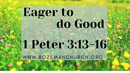 Eager To Do Good