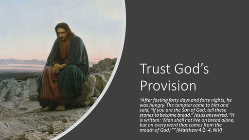 Trust God's Provision (Text)