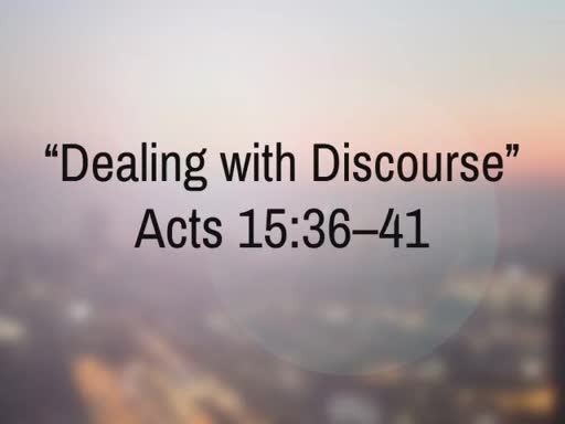 Dealing with Discourse (2)