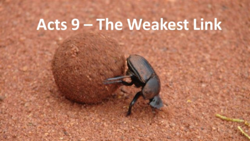 Acts 9 - The Weakest Link