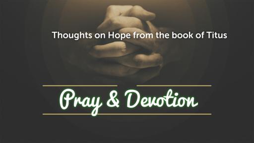 Zoom Prayer and Devotion