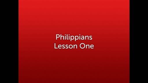 Philippians Lesson 01