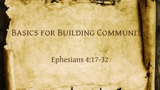 Basics for Building Community