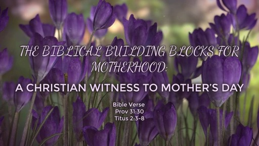 THE BIBLICAL BUILDING BLOCKS FOR MOTHERHOOD: A CHRISTIAN WITNESS TO MOTHER'S DAY