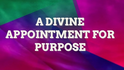 A DIVINE APPOINTMENT FOR PURPOSE