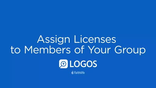 Assign Licenses to Members of Your Group