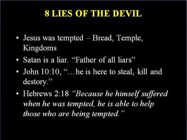 8 Lies Satan wants you to Believe