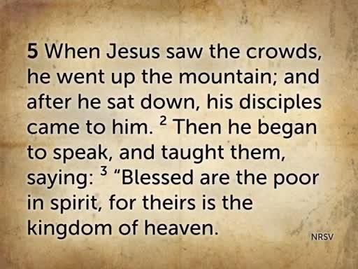 He Sat Down - Sermon On the Mount