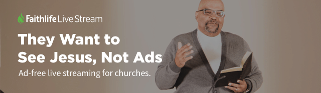 """clickable image reading """"They Want to See Jesus, Not Ads"""": Ad-free live streaming for churches"""