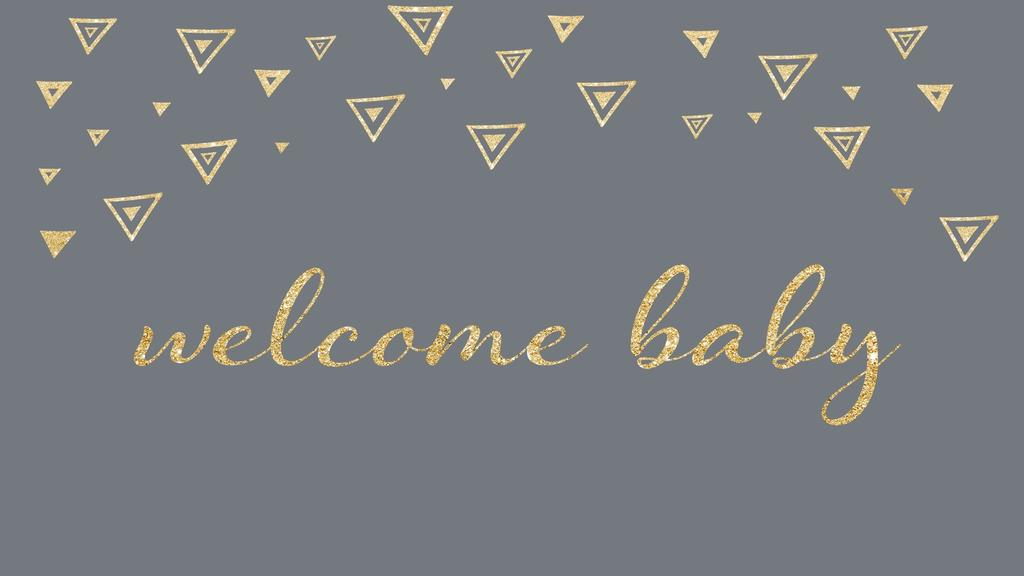 Birth Announcement welcome baby grey 16x9 smart media preview