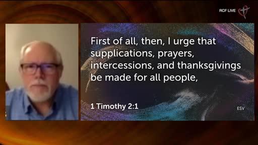 RCF Communion Service online with Dr Clem Ferris