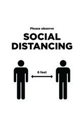Social Distancing Signs 11x17 B&W 1 image