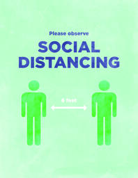 Social Distancing Sign 1 Color image