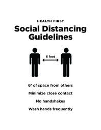 Health First Social Distancing Guidelines  image 1