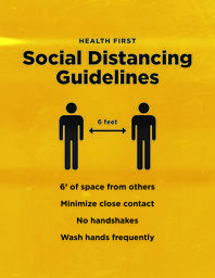 Social Distancing Sign 2 Color image