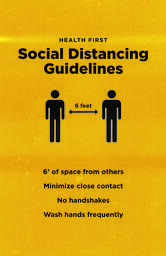 Social Distancing Signs 11x17 Color 2 image