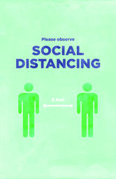 Social Distancing Signs 11x17 Color 1 image