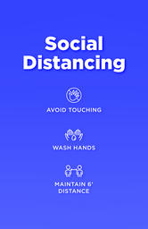 Social Distancing Signs 11x17 Color 3 image