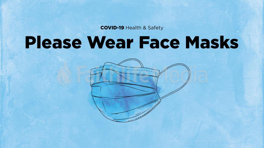Please Wear Face Masks large preview