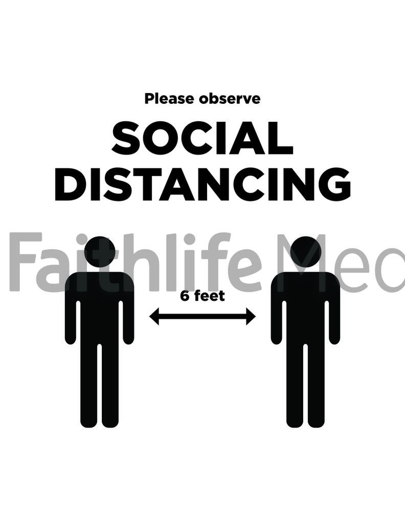 Social Distancing Sign 1 B&W preview