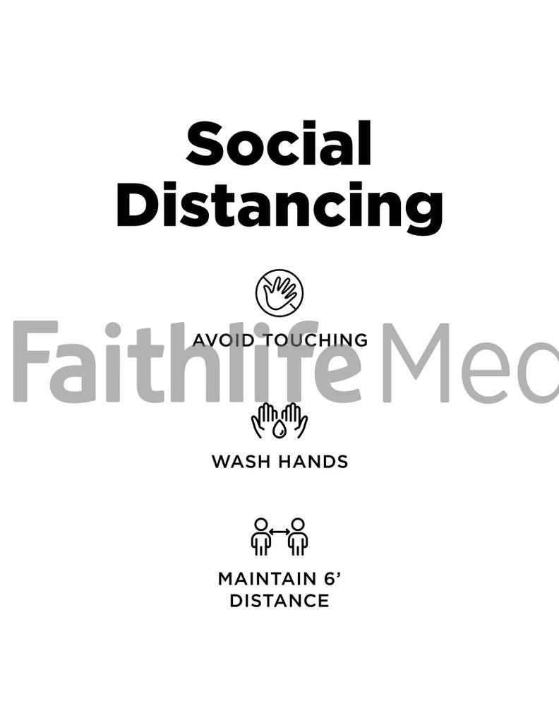 Social Distancing Sign 3 B&W preview