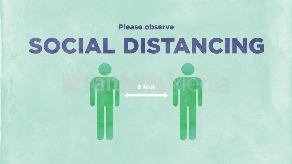 Please Observe Social Distancing large preview