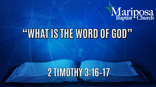 """""""What is the Word of God?"""""""